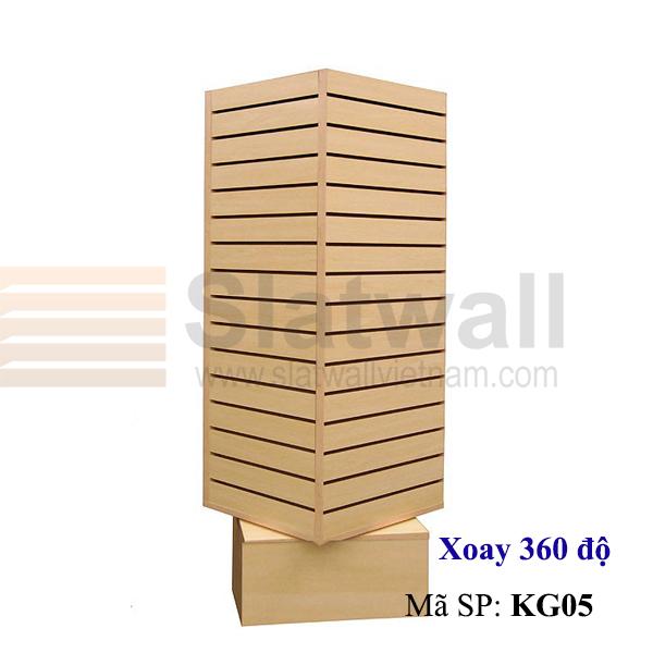 Kệ gỗ Slatwall xoay KG05