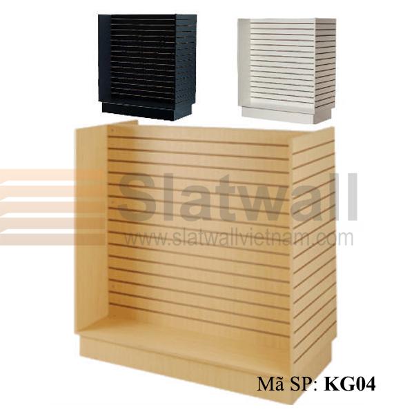 Kệ gỗ Slatwall hình chữ