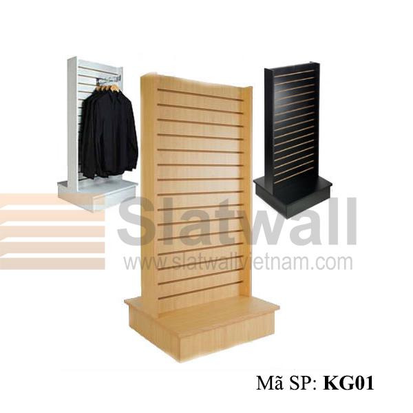 Kệ gỗ Slatwall KG01