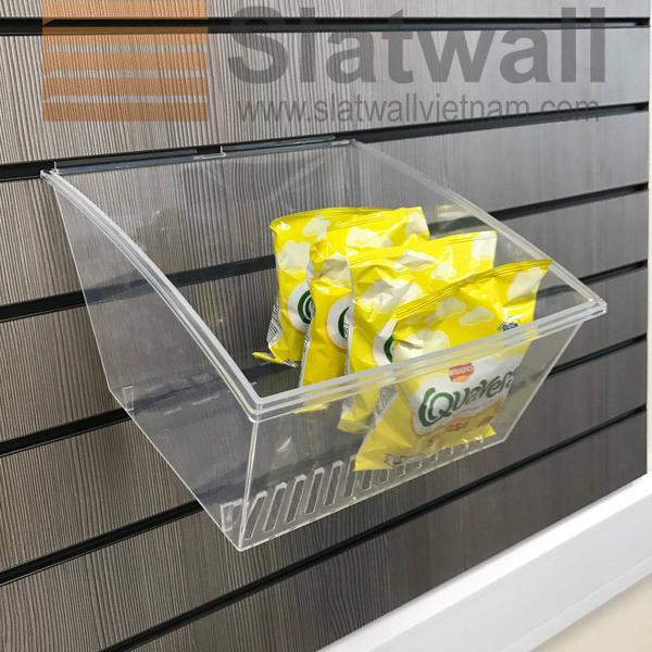 Hộp nhựa PVC cài Slatwall HNG08
