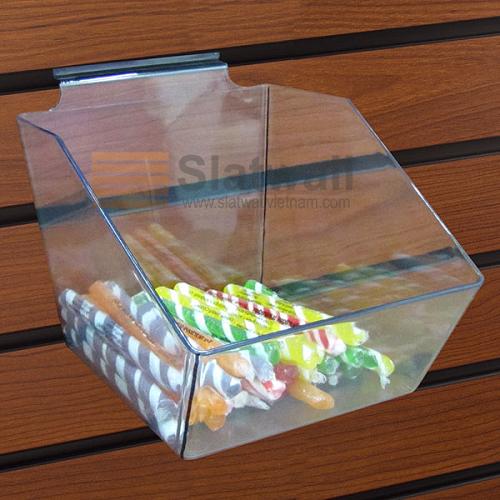 Kệ Mica hộp cài tấm gỗ Slatwall MCH01