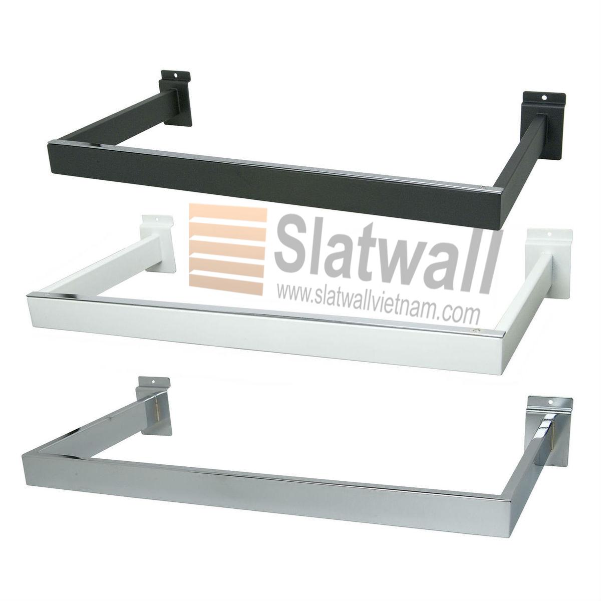 Móc hộp vuông chữ D cài Slatwall MDG02