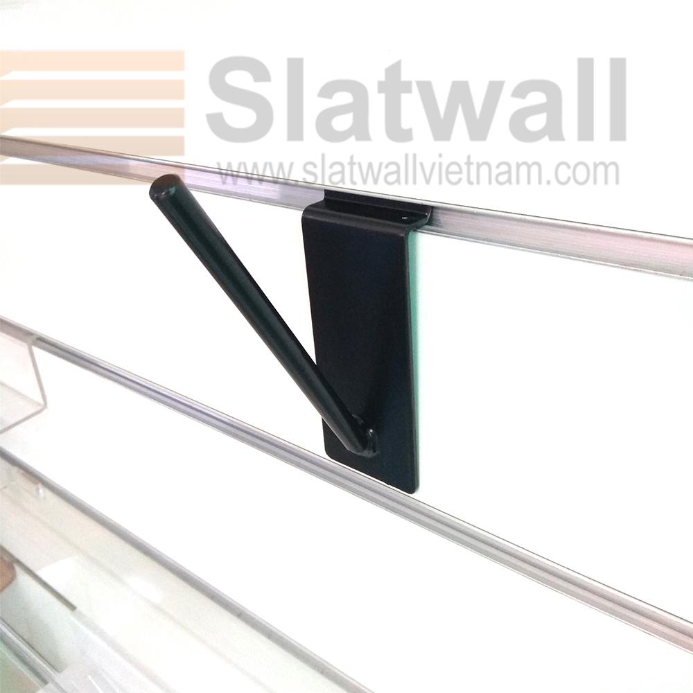 Móc treo đơn cài tấm gỗ slatwall MTG104