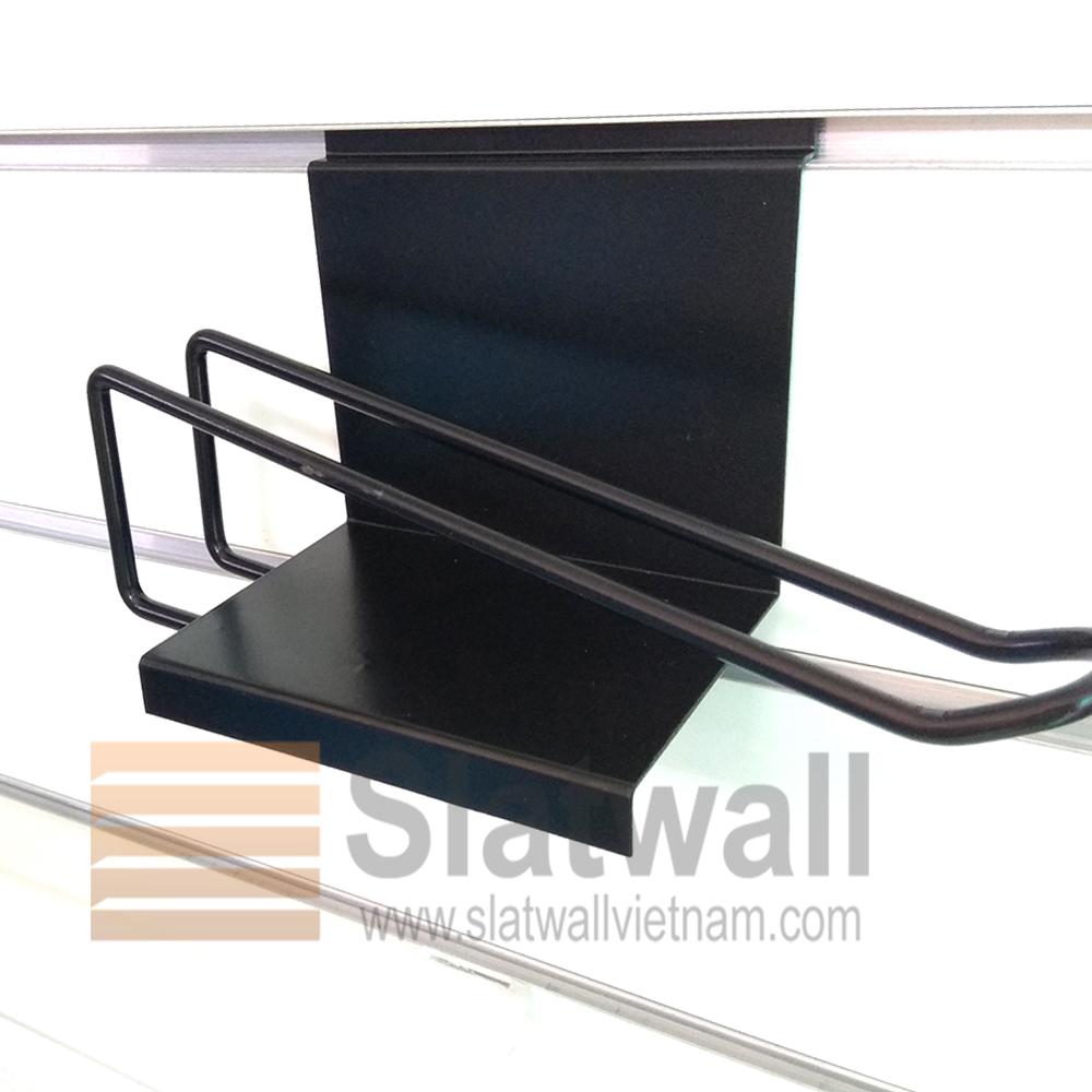 Móc treo đôi cài tấm gỗ slatwall MTG205