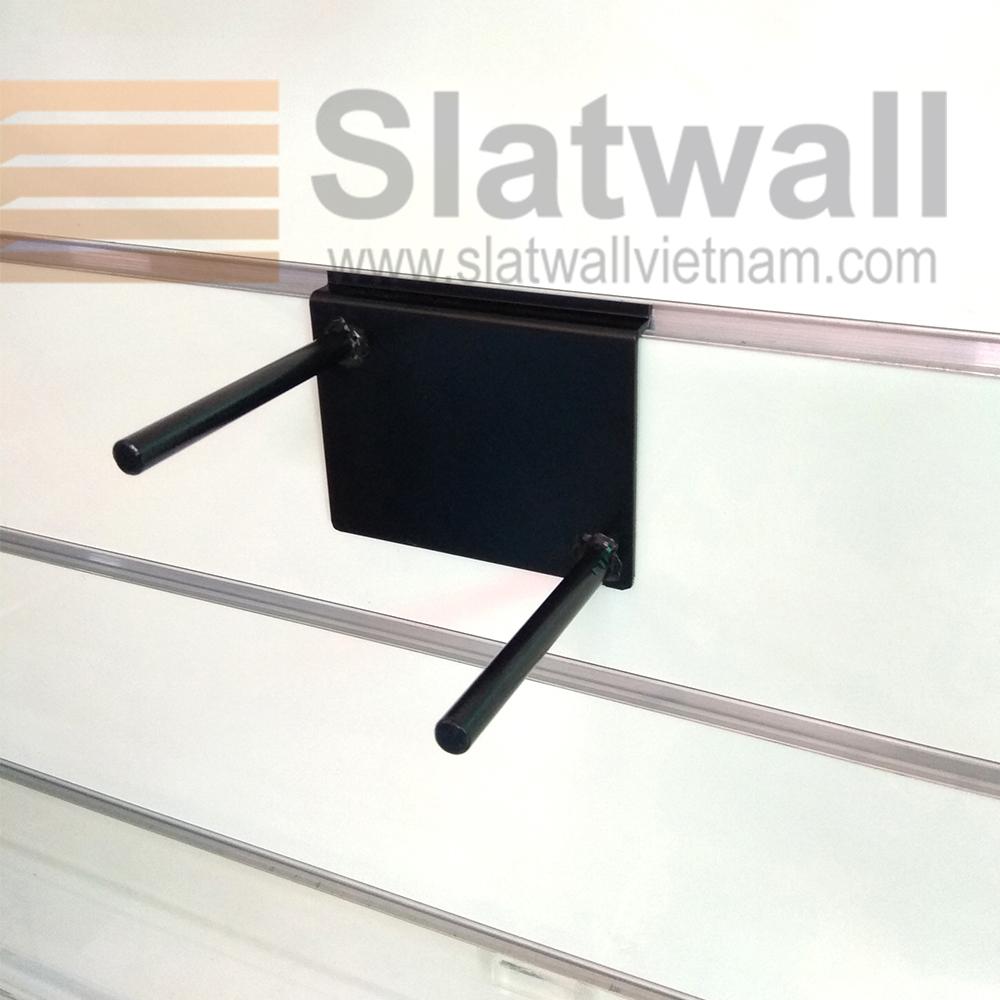 Móc treo đôi cài tấm gỗ slatwall MTG204