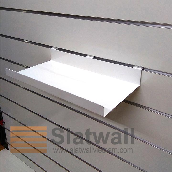 Kệ sắt cài tấm gỗ slatwall KSG06