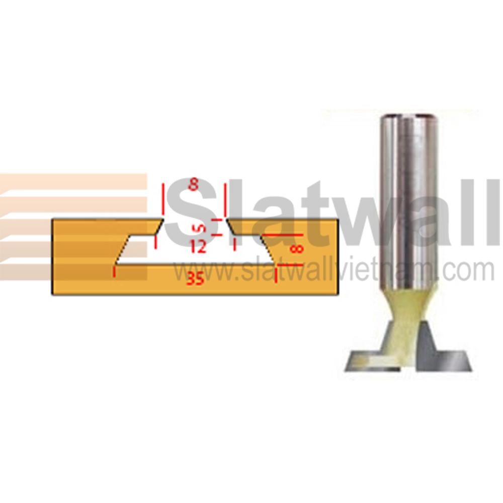 Mũi phay rãnh tấm gỗ ốp tường slatwall MPRG02