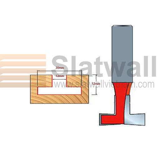 Mũi phay rãnh tấm gỗ ốp tường slatwall MPRG01