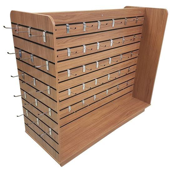 kệ gỗ tủ gỗ trang trí treo hàng trưng bày
