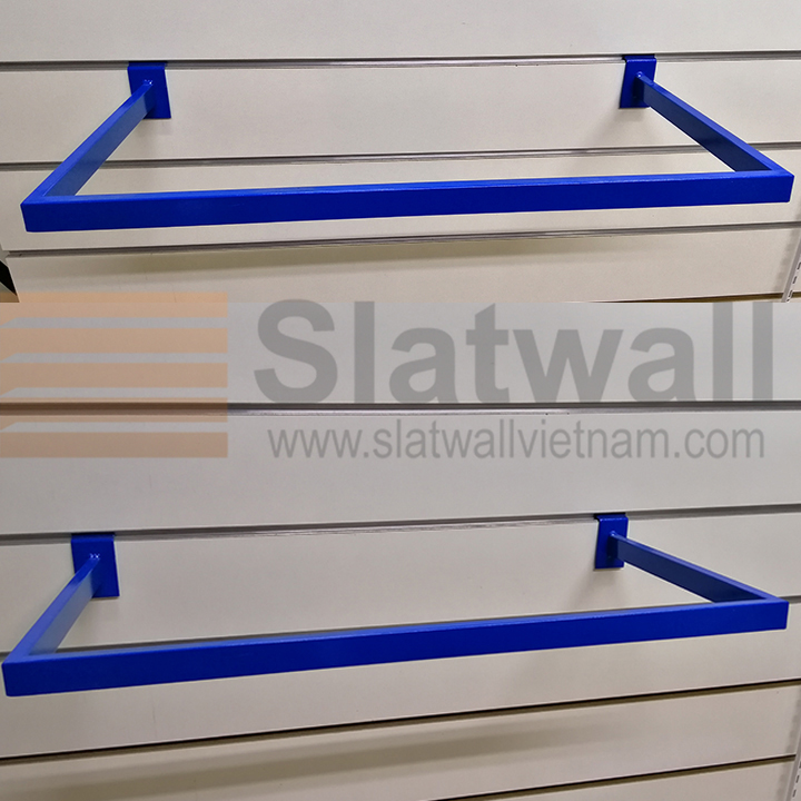 Móc hộp chữ U cài Slatwall MDG02 màu xanh dương