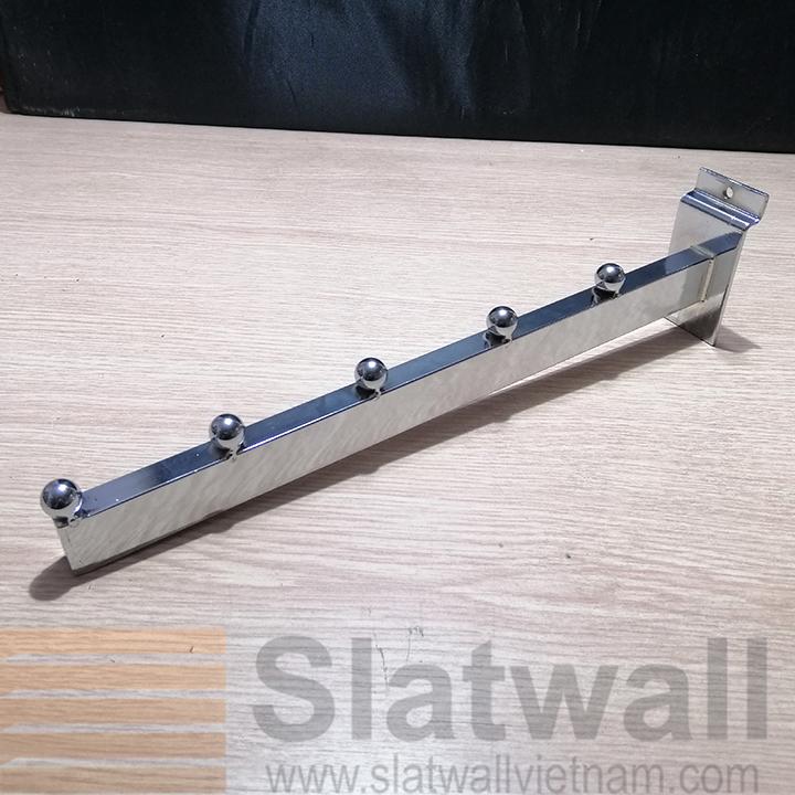 Móc hộp 5 bi cài rãnh tấm gỗ slatwall MBG05